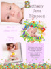 Thumbnail Pink flowers online birth announcements
